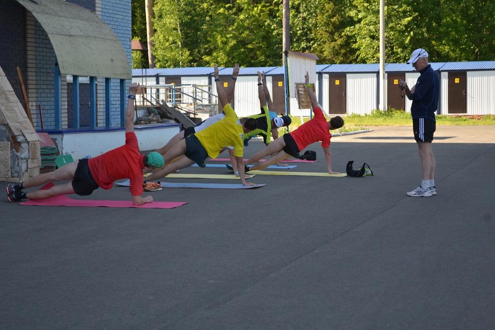 Сборная Удмуртии по лыжным гонкам приступила к подготовке к новому сезону в прежнем составе. Фото: Александр Поскребышев