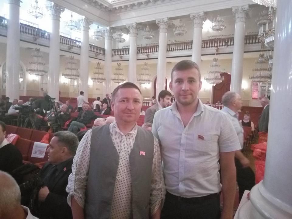 Кандидаты от «Коммунистов России» Юрий Мишкин и Роман Дементьев. Фото: facebook.com