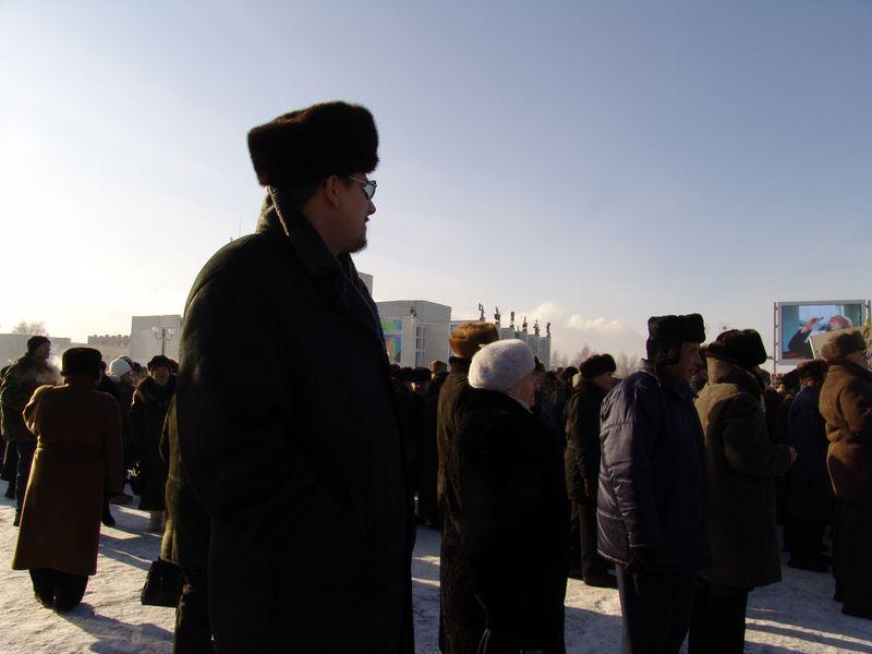 Во время митинга на Центральной площади Ижевска. 3 февраля 2007 года. Фото из архива ©газета «День»