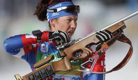 Анна Кунаева на огневом рубеже. Фото: rsport.ru