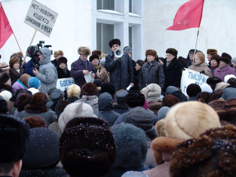 """На митинге в честь годовщины начала """"седой революции"""" в Ижевске. 12 января 2006 года. Фото из архива ©газета """"День"""""""
