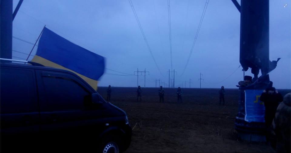 ЛЭП, подающие электроэнергию в Крым, подорвали в Херсонской области Украины. Фото: ostro.org