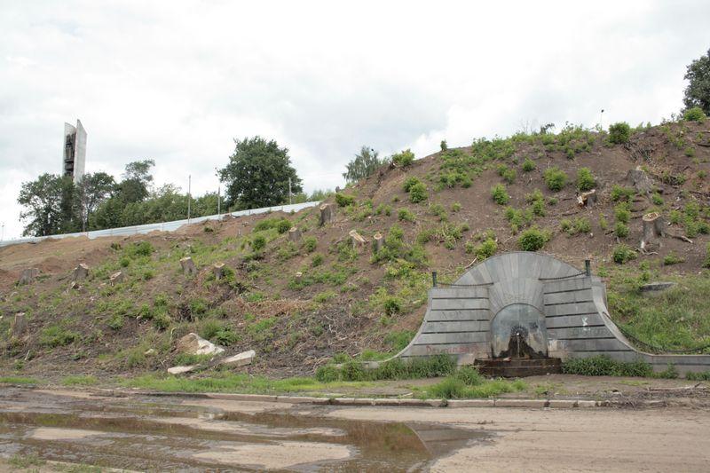 В разгар реконструкции набережной. Июль 2009 года. Фото из архива газеты «День»