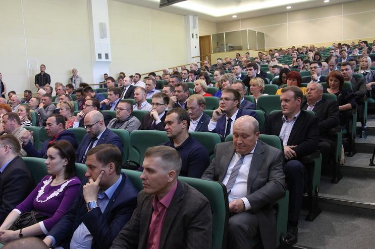 Выступление перед бизнес-сообществом.Фото: © Николай Глухов