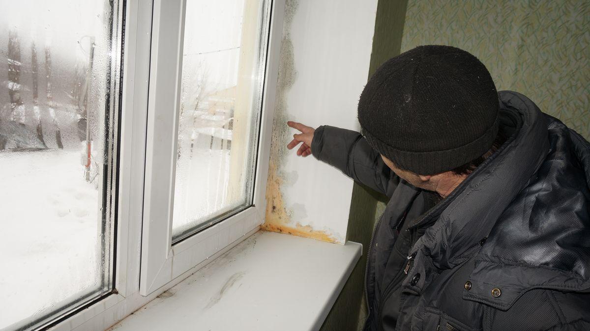 На окнах уже не просто привычная серовато-зеленая плесень, а отвратительная розовато-белесая субстанция. Фото: © «ДЕНЬ.org»