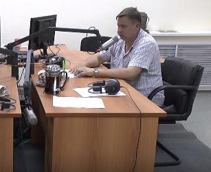 Алексей Пантюхин. Кадр видеозаписи эфира РСН в Ижевске